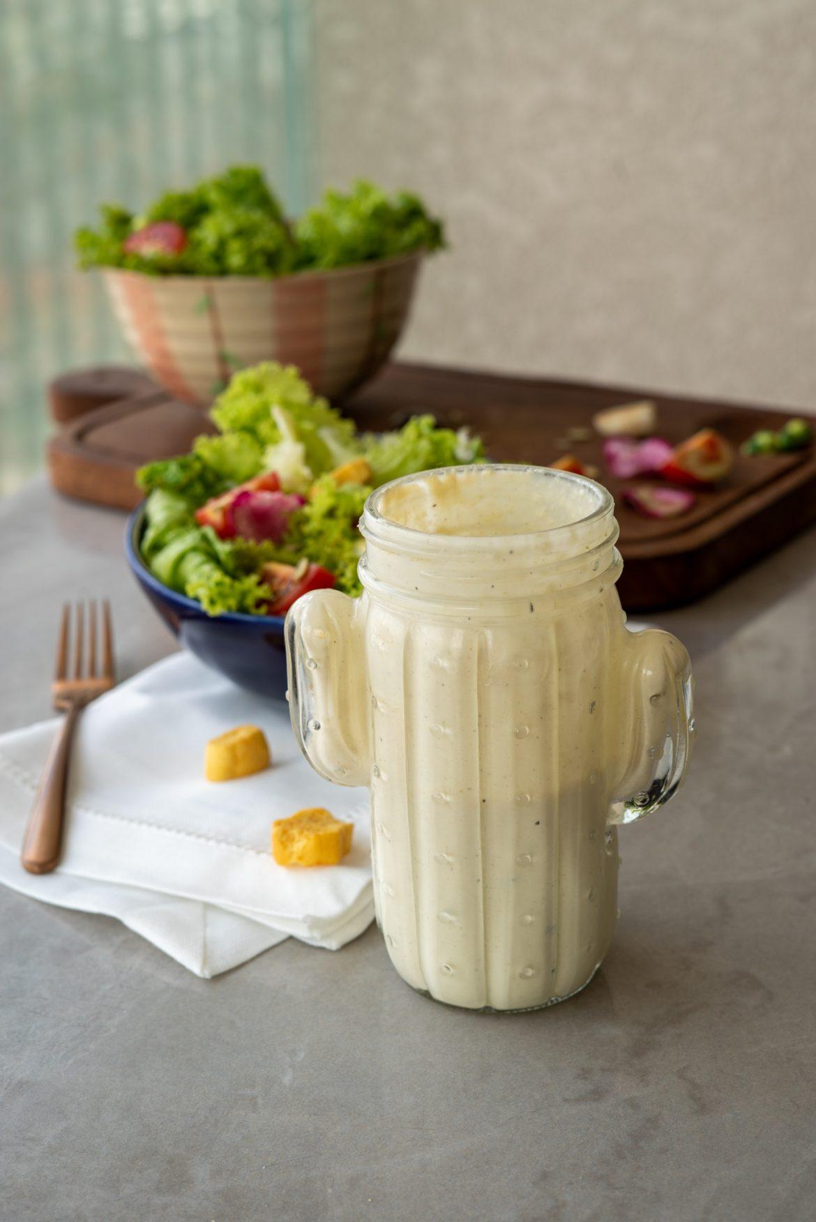 molho para saladas de iogurte e tahine
