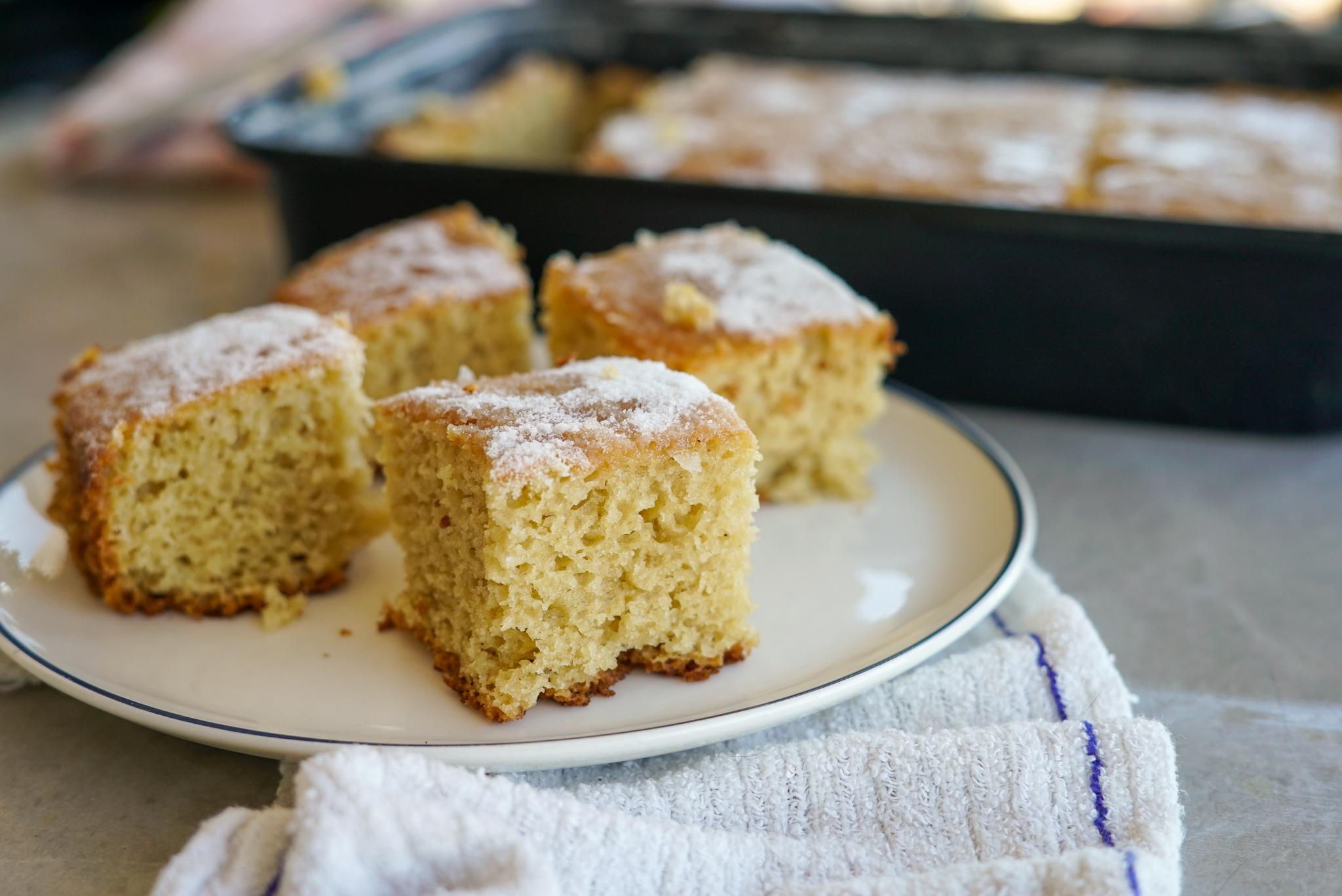 bolo de casca de abacaxi