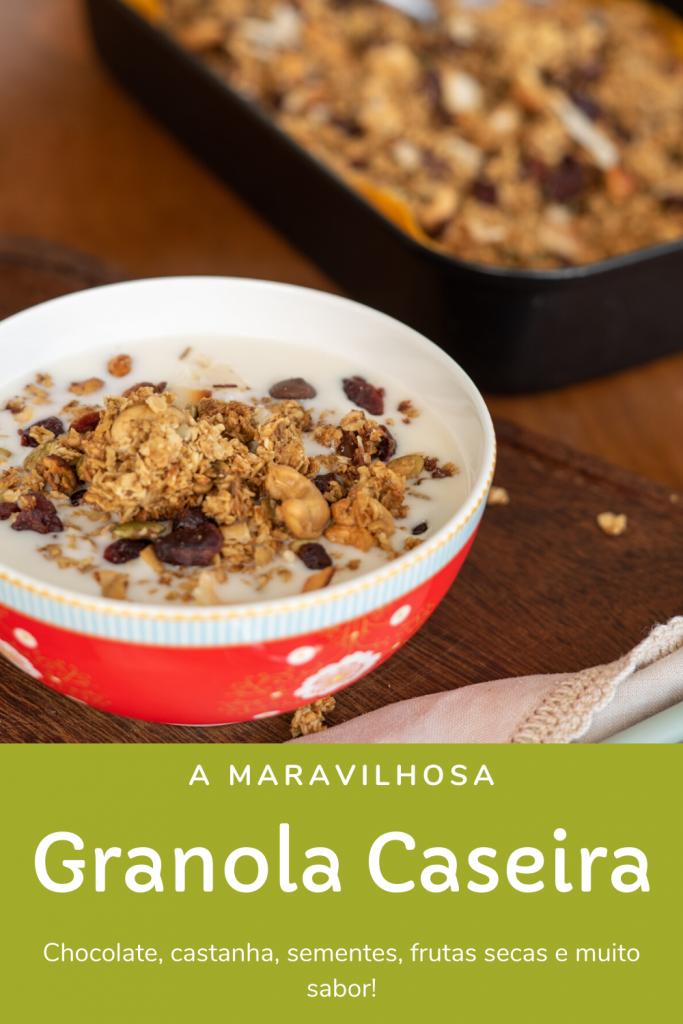 passo a passo de como fazer granola saudável e caseira