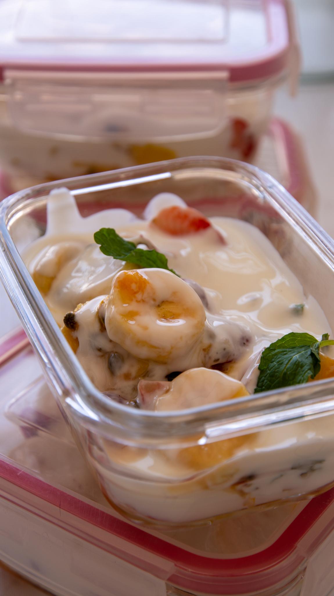 como fazer salada de frutas com iogurte