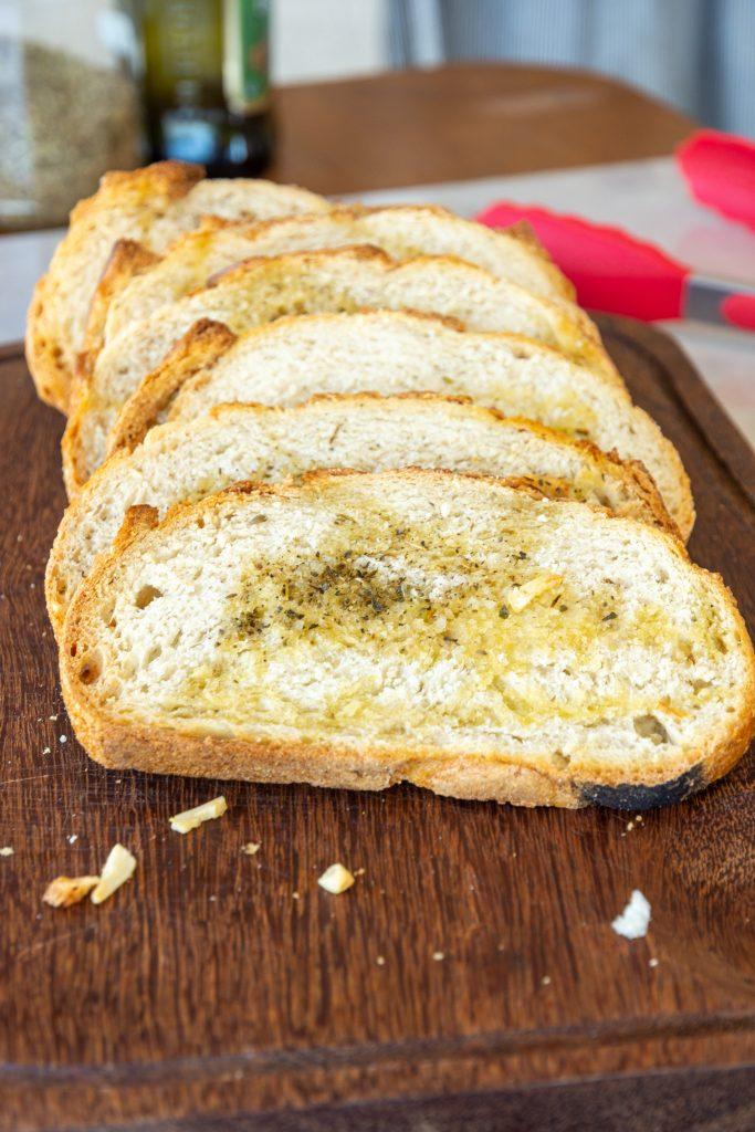 torrada para sopa ou saladas (crotouns e torradinhas)